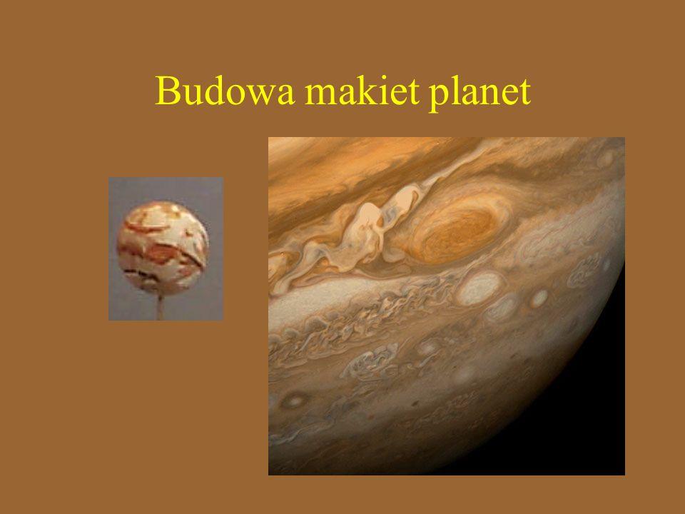 Budowa makiet planet