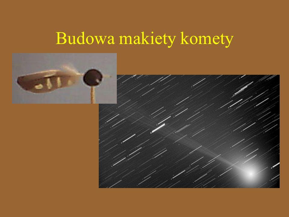 Budowa makiety komety