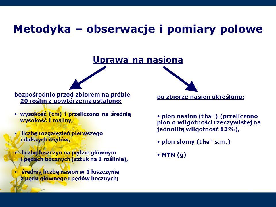 2.W miarę opóźniania siewu gorczycy białej odmiany Nakielska, w terminach przewidzianych na uprawę jej na nasiona, następowało istotne skrócenie okresu wegetacji roślin.