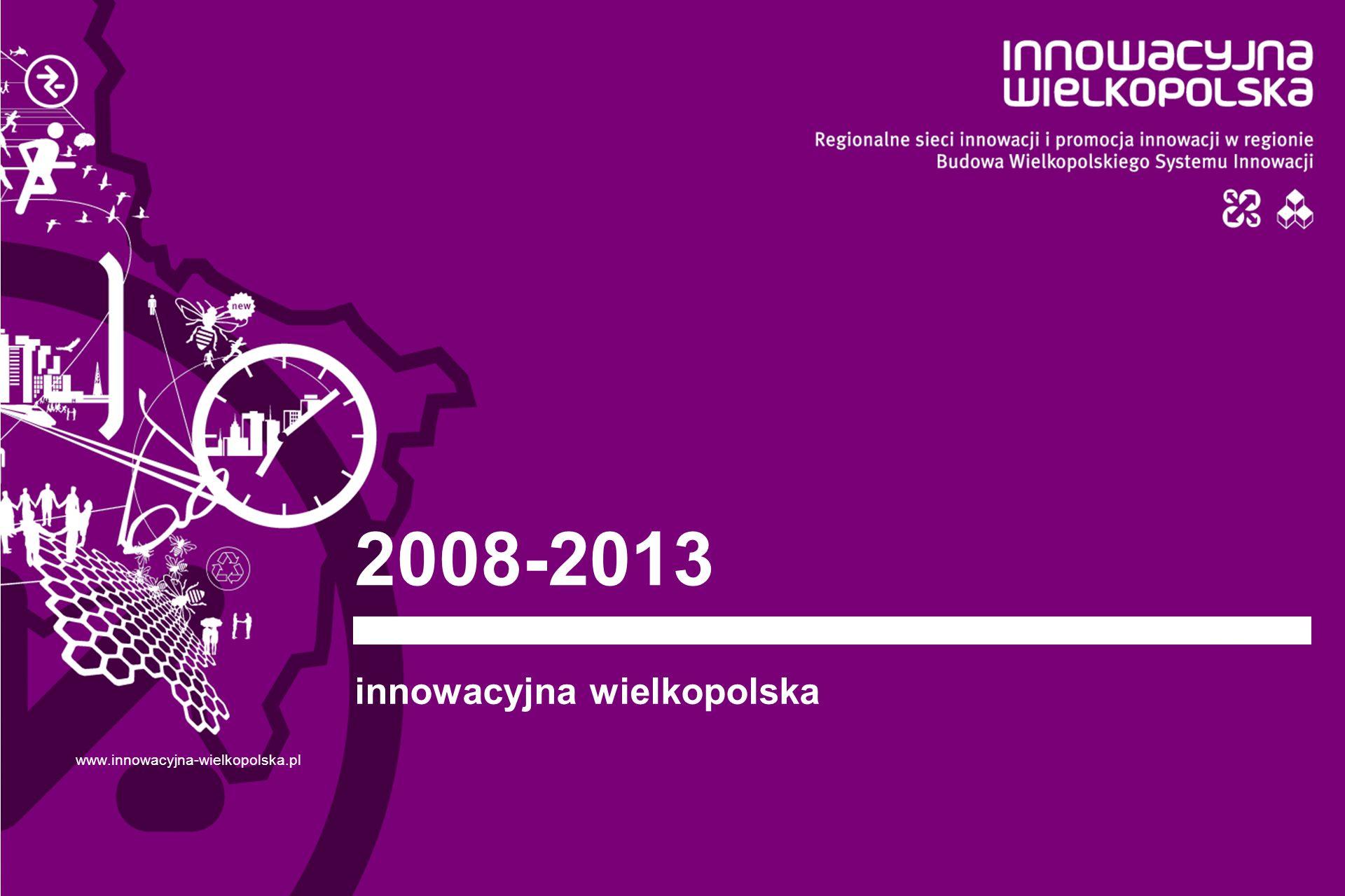 www.innowacyjna-wielkopolska.pl 01 Aktywna rola samorządu województwa w kreowaniu polityki innowacyjnej Projekty systemowe