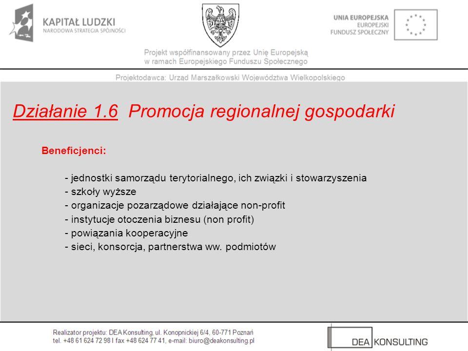 Beneficjenci: - jednostki samorządu terytorialnego, ich związki i stowarzyszenia - szkoły wyższe - organizacje pozarządowe działające non-profit - ins