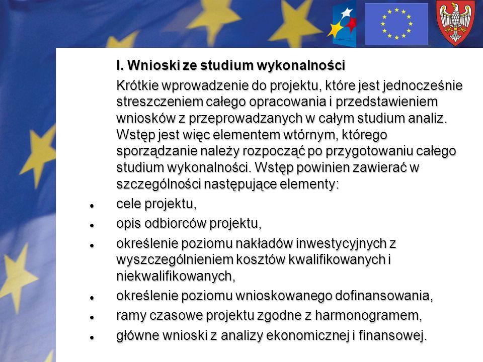 IX.Analiza ekonomiczna – projekty o wartości powyżej 5 mln euro.