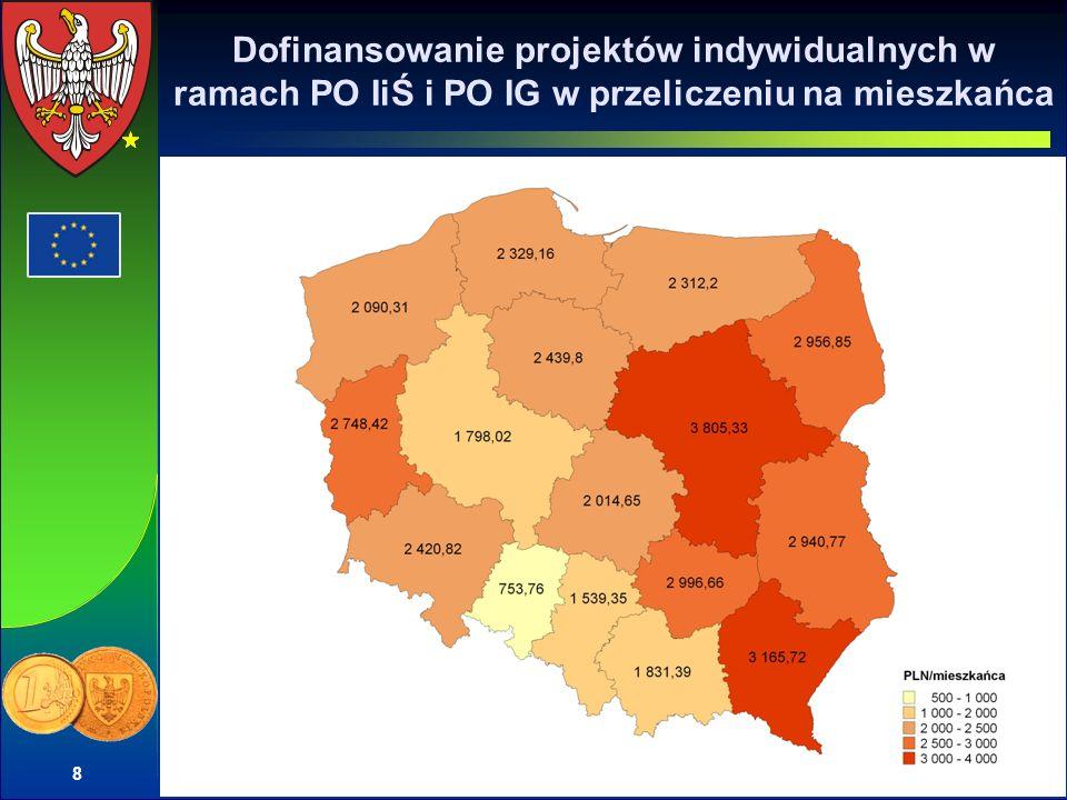 19 Projekty indywidualne realizowane na terenie Wielkopolski