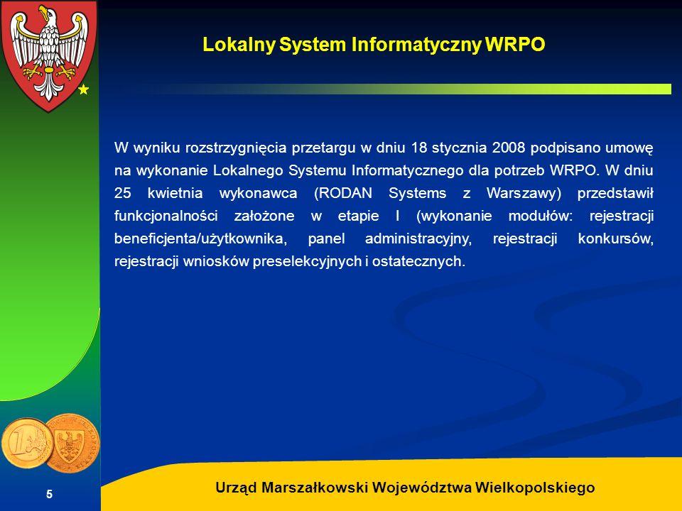 Autor: G.Potrzebowski Urząd Marszałkowski Województwa Wielkopolskiego 5 W wyniku rozstrzygnięcia przetargu w dniu 18 stycznia 2008 podpisano umowę na