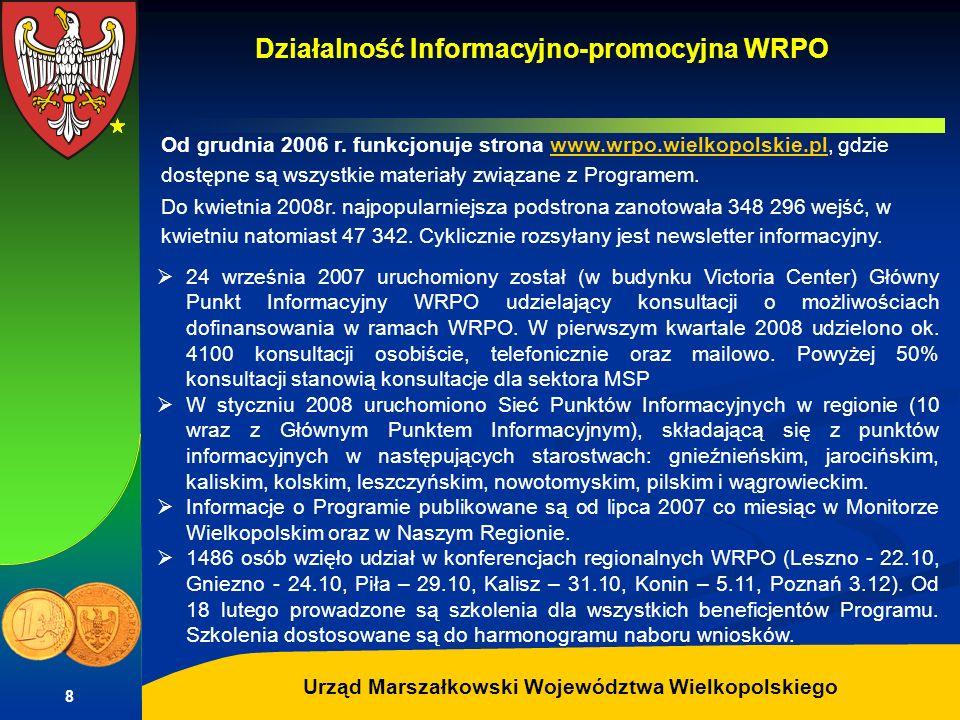 Autor: G.Potrzebowski Urząd Marszałkowski Województwa Wielkopolskiego 8 Od grudnia 2006 r. funkcjonuje strona www.wrpo.wielkopolskie.pl, gdzie dostępn
