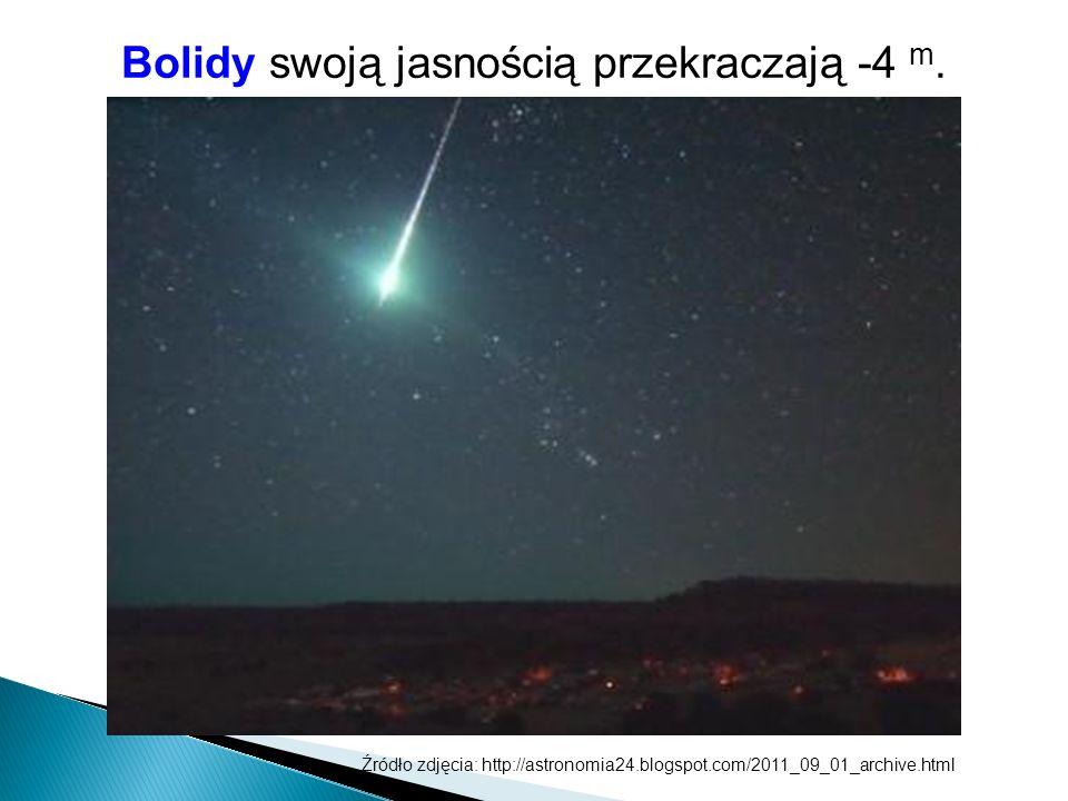 Bolidy swoją jasnością przekraczają -4 m. Źródło zdjęcia: http://astronomia24.blogspot.com/2011_09_01_archive.html