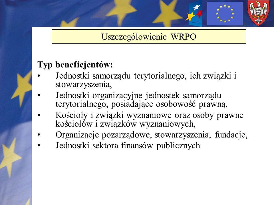 Typ beneficjentów: Jednostki samorządu terytorialnego, ich związki i stowarzyszenia, Jednostki organizacyjne jednostek samorządu terytorialnego, posia