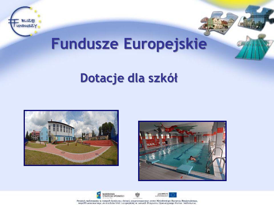 Fundusze Europejskie Dotacje dla szkół