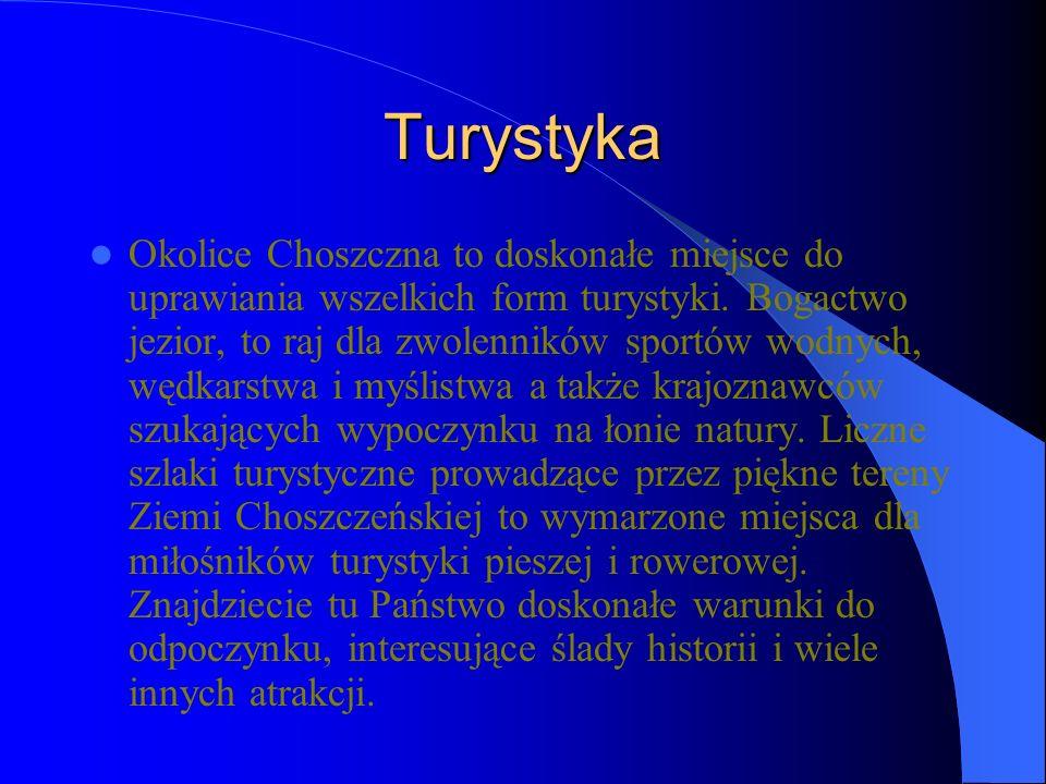 Turystyka Okolice Choszczna to doskonałe miejsce do uprawiania wszelkich form turystyki.