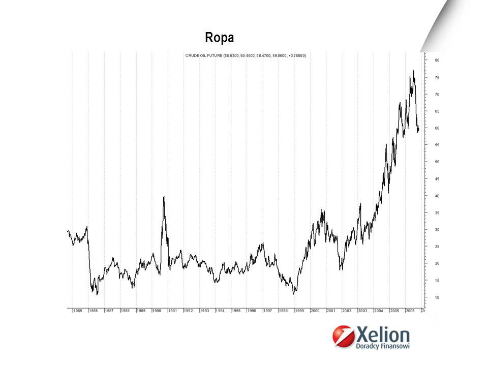 World Crude Oil Demand and Supply World Crude Oil Production and Consumption (1998 - 2003), Million Barrels Per Day Year199819992000200120022003 Total Product ion 73.472.174.774.574.176.8 Total Consu mption 73.074.675.575.976.678.1 W tym roku Międzynarodowa Agencja Energii (MAE) prognozuje popyt na poziomie 84,49 mln baryłek dziennie a w przyszłym na 85,94 mln.