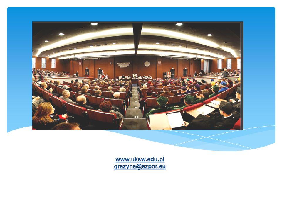 www.uksw.edu.pl grazyna@szpor.eu