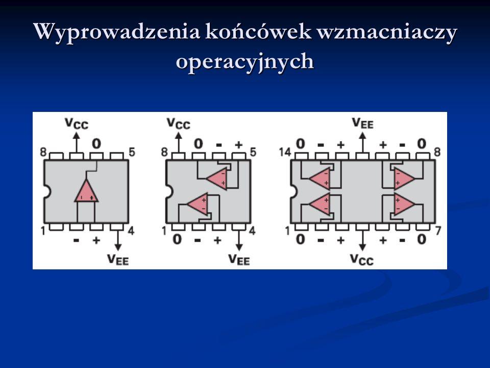 Wygląd obudów układów scalonych - wzmacniaczy operacyjnych