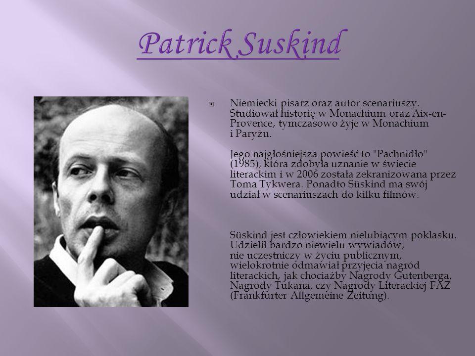 Niemiecki pisarz oraz autor scenariuszy. Studiował historię w Monachium oraz Aix-en- Provence, tymczasowo żyje w Monachium i Paryżu. Jego najgłośniejs