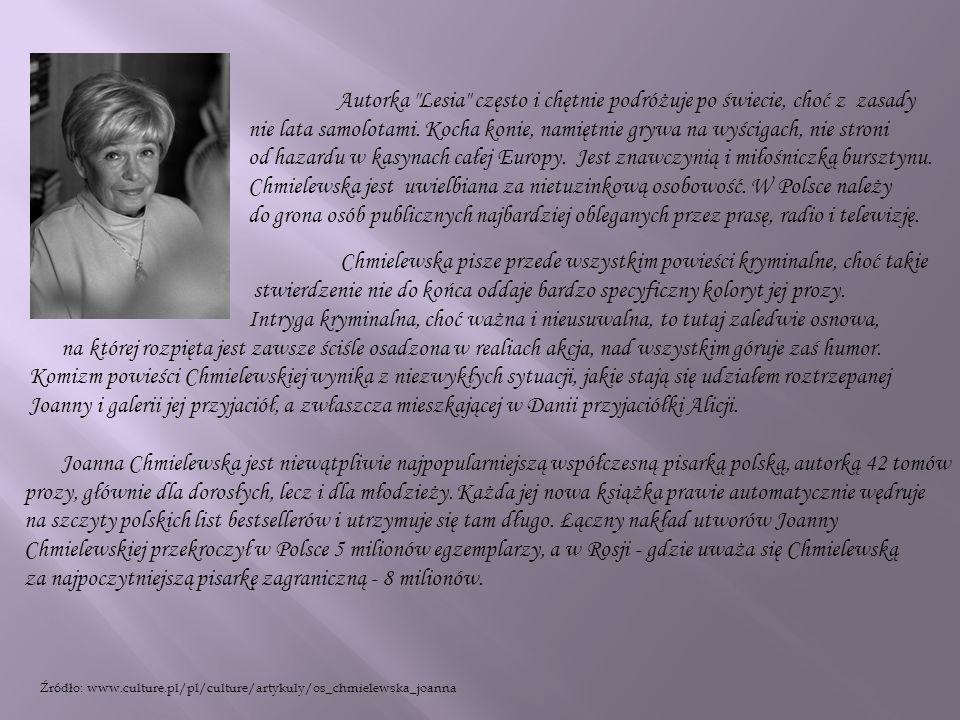 Ósma w dorobku powieść detektywistyczna Chmielewskiej to mistrzostwo gatunku.