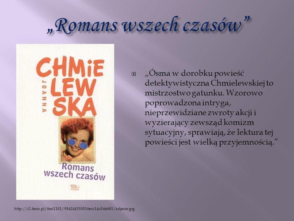 Ósma w dorobku powieść detektywistyczna Chmielewskiej to mistrzostwo gatunku. Wzorowo poprowadzona intryga, nieprzewidziane zwroty akcji i wyzierający