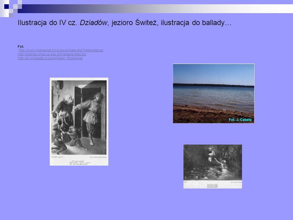 Ilustracja do IV cz. Dziadów, jezioro Świteź, ilustracja do ballady… Fot. http://www.mickiewicz.smd.org.pl/index.php?id=tworczosc http://ptpnoz.wnoz.u
