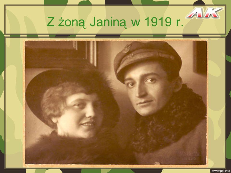 Z żoną Janiną w 1919 r.