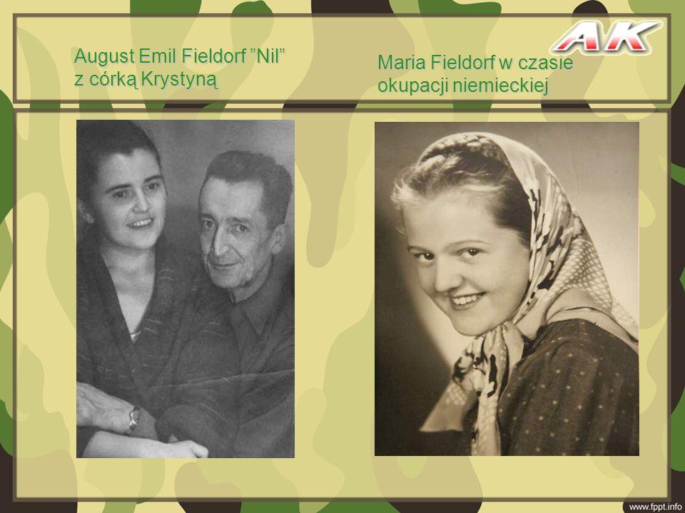 August Emil Fieldorf Nil z córką Krystyną Maria Fieldorf w czasie okupacji niemieckiej