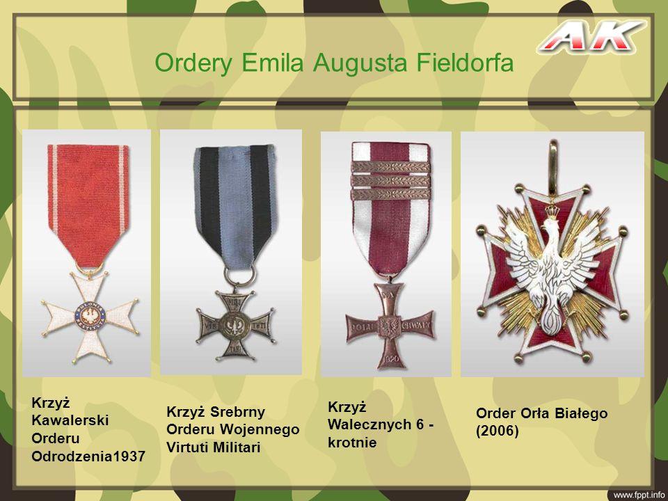Krzyż Kawalerski Orderu Odrodzenia1937 Krzyż Srebrny Orderu Wojennego Virtuti Militari Order Orła Białego (2006) Krzyż Walecznych 6 - krotnie