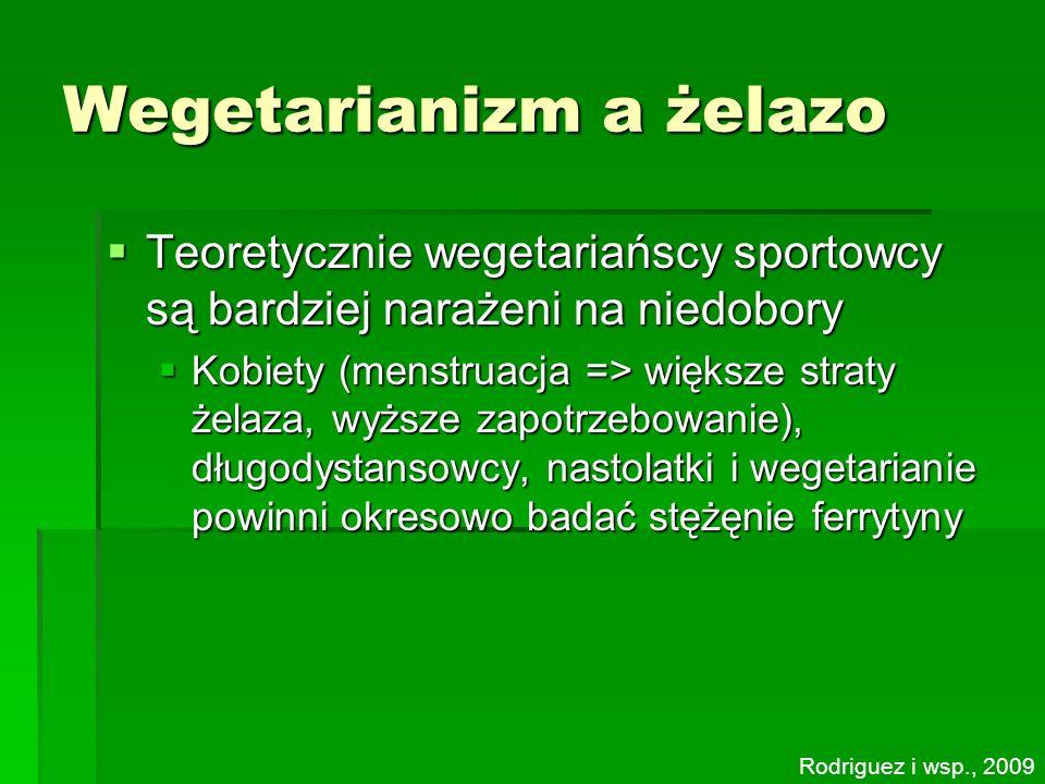 Wegetarianizm a żelazo Teoretycznie wegetariańscy sportowcy są bardziej narażeni na niedobory Teoretycznie wegetariańscy sportowcy są bardziej narażen