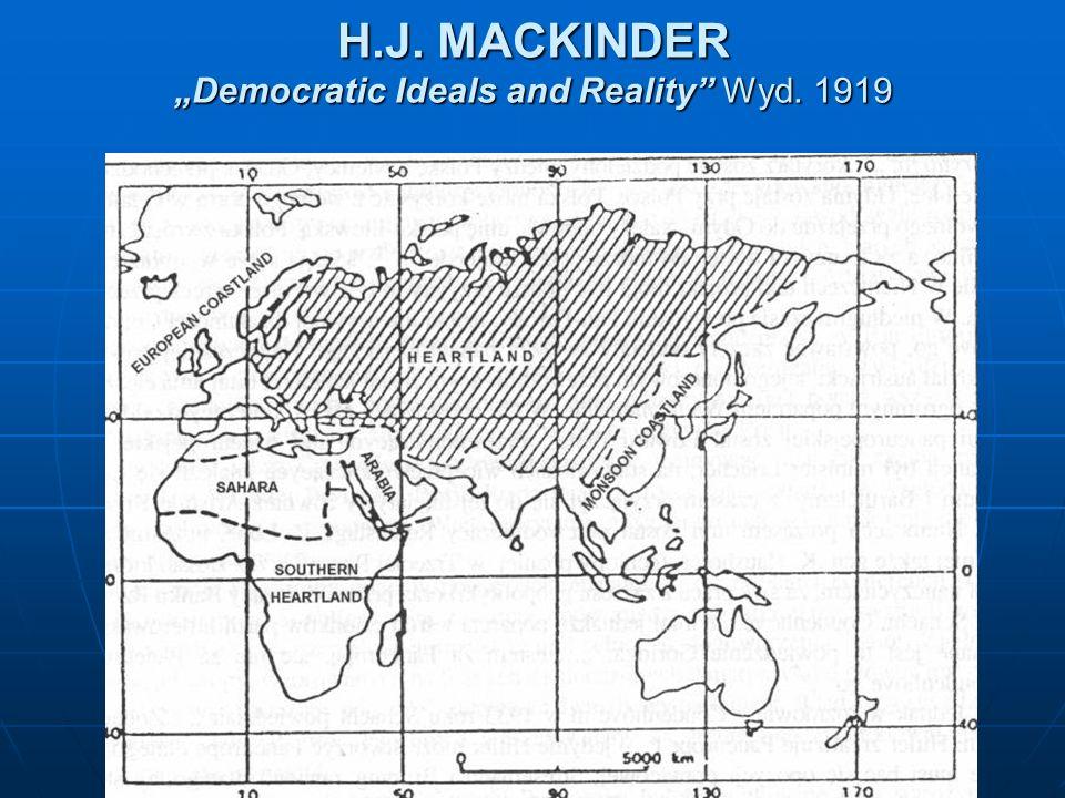 H.J. MACKINDER Democratic Ideals and Reality Wyd. 1919