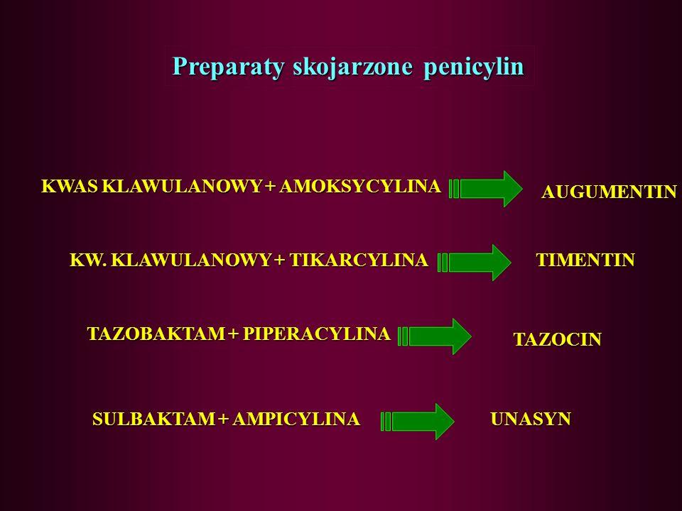 B-laktamazy penicylinazycefalosporynazy -laktamazy o szerokim spektrum plazmidowe (Staphylococcus aureus) Chromosomalne (Pseudomonas, Enterobacter, Se