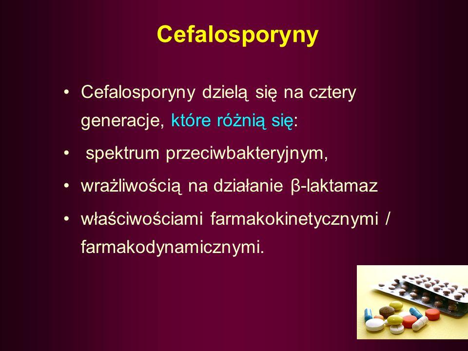 31 Działania niepożądane penicylin reakcje nadwrażliwości zmiany w badaniach laboratoryjnych: (+) Cooombsa, neutropenia, reakcje toksyczne depresja sz