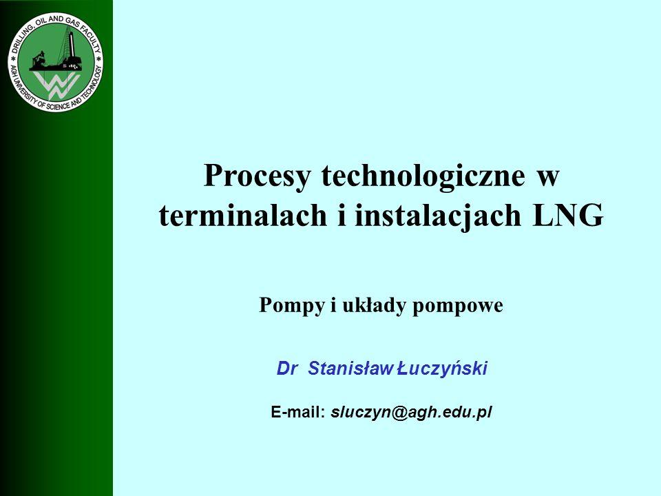 Pompy LNG do ładowania małych zbiorników stacjonarnych oraz autocystern Pompa odśrodkowa typu CO Ciśnienie P = 36 bar.