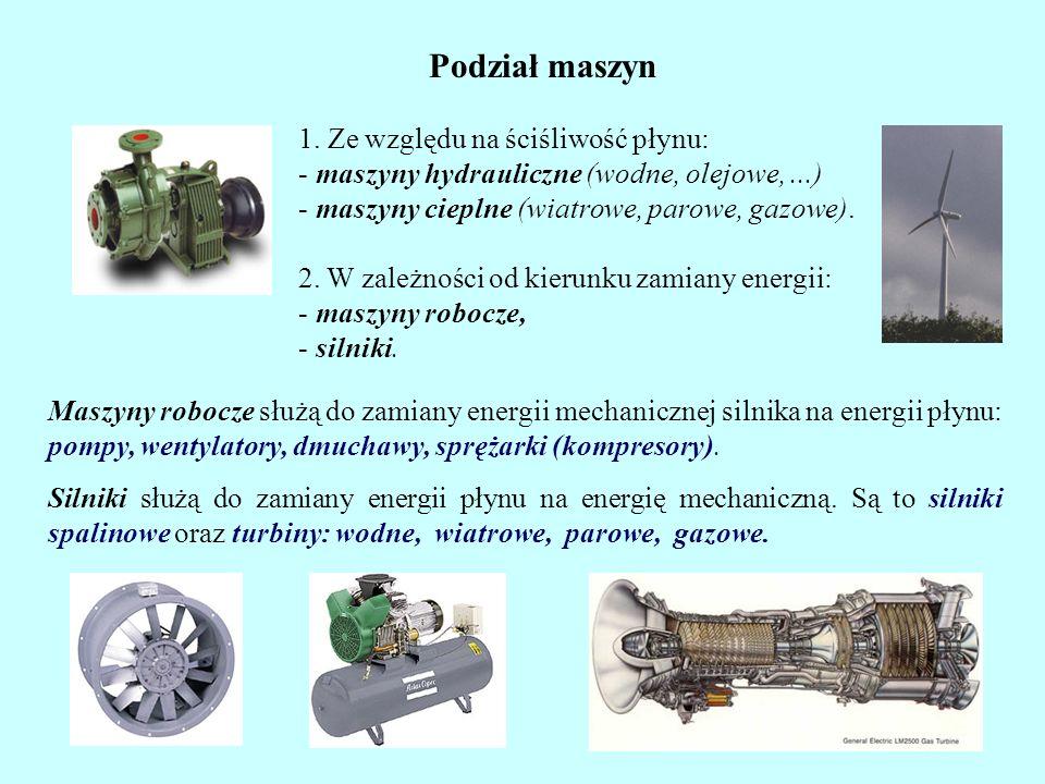 W teorii maszyn hydraulicznych bardzo często zamiast pracy jednostkowej używane jest pojęcie wysokości hydraulicznej (słupa cieczy) H: g - przyśpieszenie ziemskie.