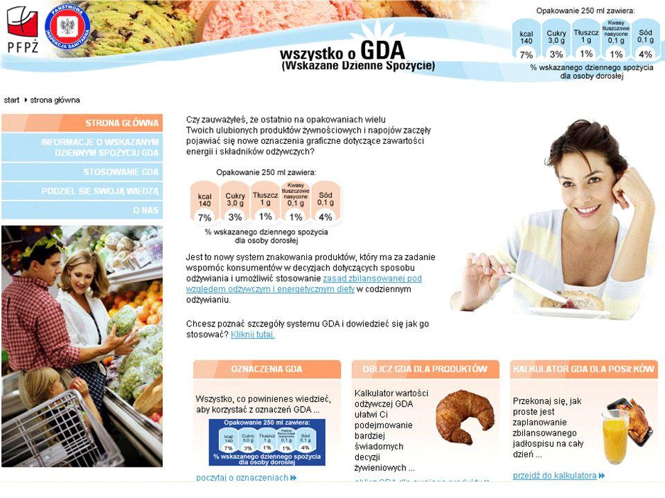Dobrowolny Program Znakowania Wartością Odżywczą GDA