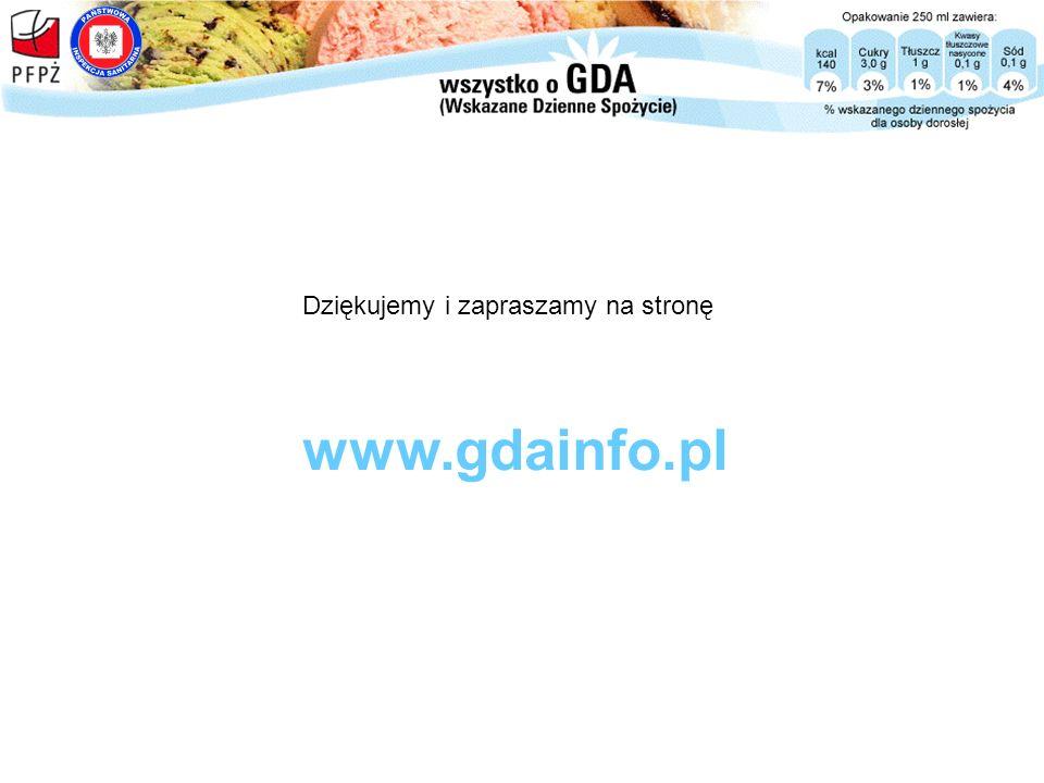 Dziękujemy i zapraszamy na stronę www.gdainfo.pl