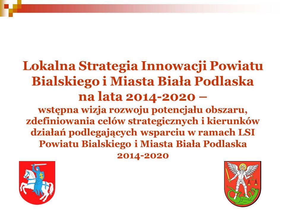 Lokalna Strategia Innowacji Powiatu Bialskiego i Miasta Biała Podlaska na lata 2014-2020 – wstępna wizja rozwoju potencjału obszaru, zdefiniowania cel