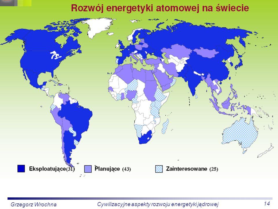 14 Cywilizacyjne aspekty rozwoju energetyki jądrowej Grzegorz Wrochna
