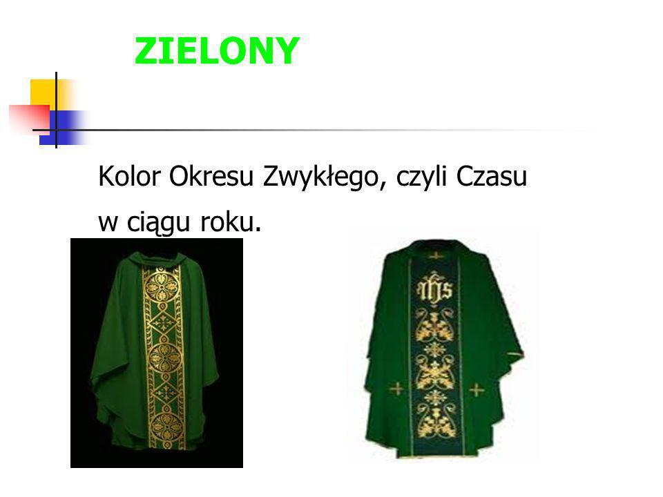 ZIELONY Kolor Okresu Zwykłego, czyli Czasu w ciągu roku.