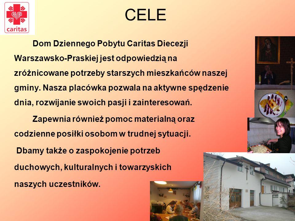 Dom Dziennego Pobytu Caritas Diecezji Warszawsko-Praskiej jest odpowiedzią na zróżnicowane potrzeby starszych mieszkańców naszej gminy. Nasza placówka