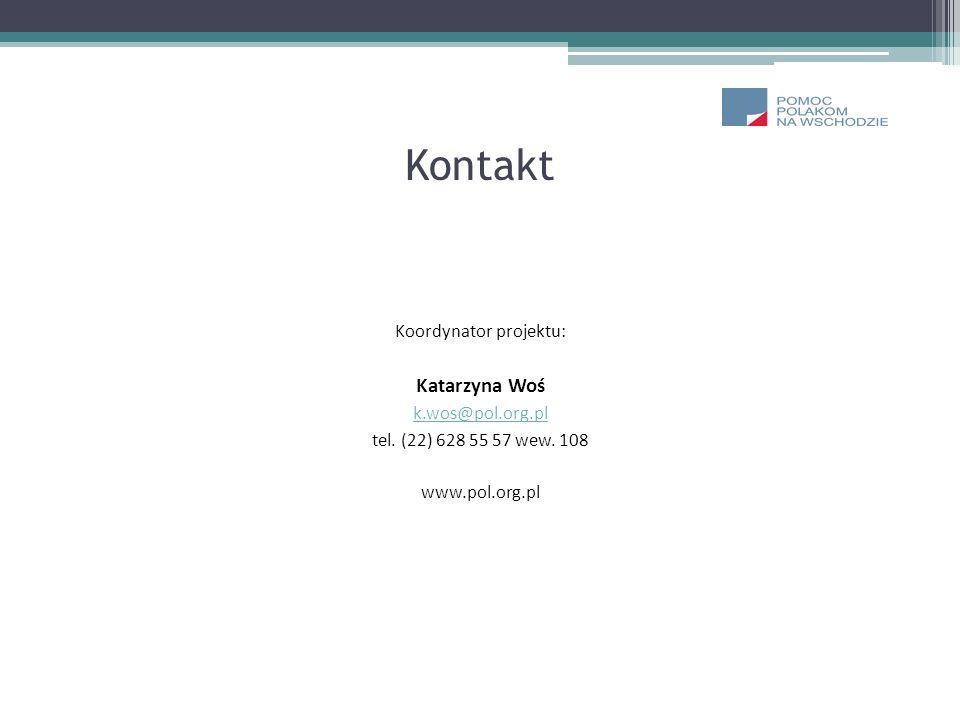 Kontakt Koordynator projektu: Katarzyna Woś k.wos@pol.org.pl tel. (22) 628 55 57 wew. 108 www.pol.org.pl