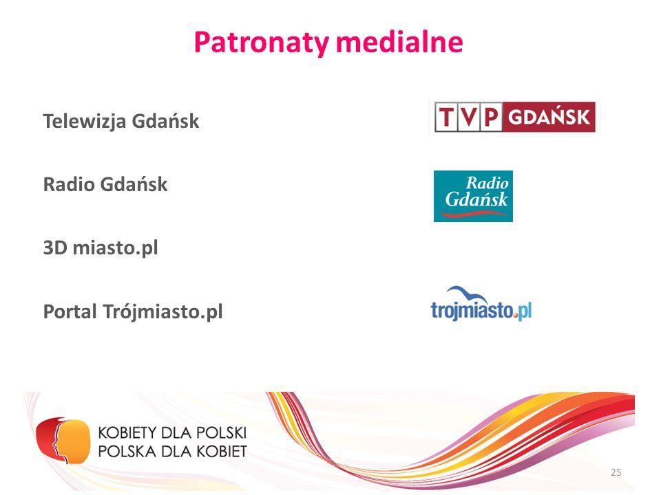 Patronaty medialne Telewizja Gdańsk Radio Gdańsk 3D miasto.pl Portal Trójmiasto.pl 25