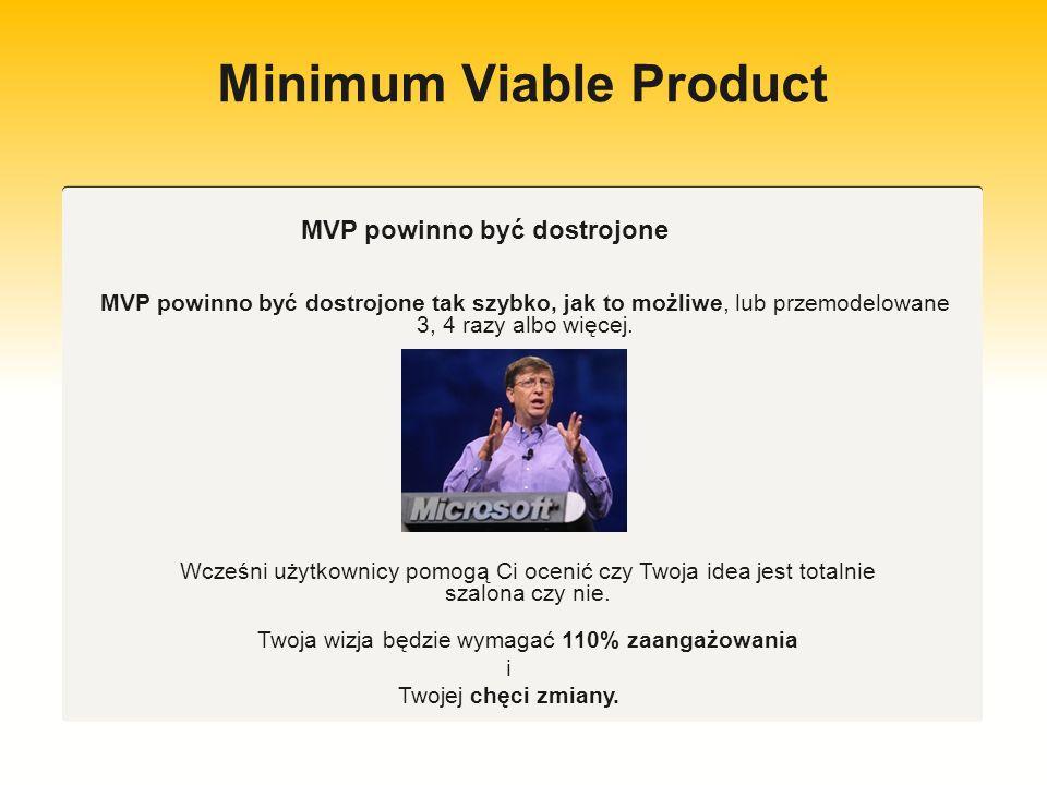 Minimum Viable Product Ogólna idea cyklu to buduj, mierz, gromadź dane, wyciągaj wnioski, ucz się i redukuj czas trwania cyklu.