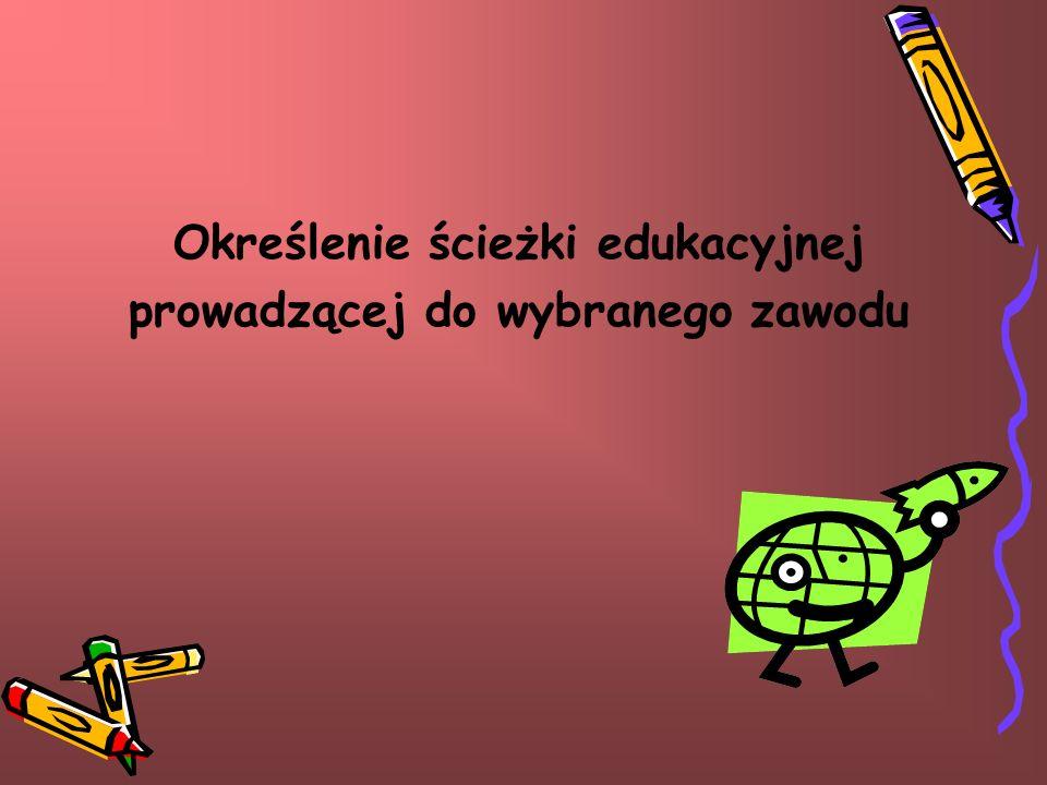 Określenie ścieżki edukacyjnej prowadzącej do wybranego zawodu