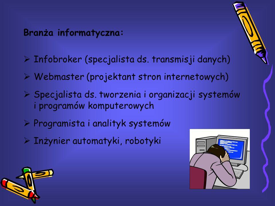 Branża informatyczna: Infobroker (specjalista ds.