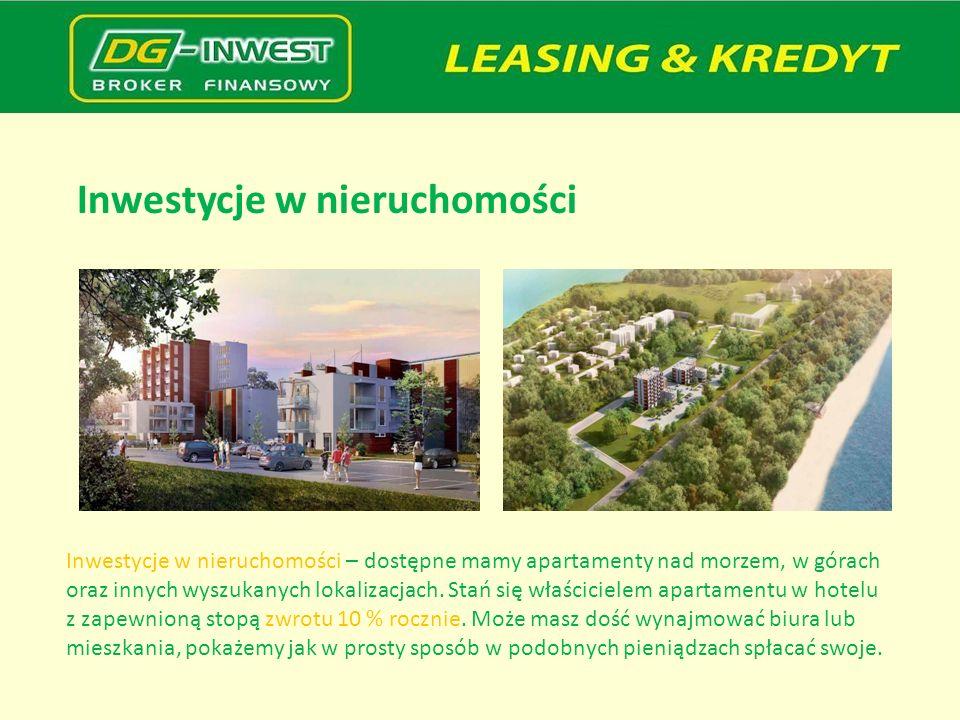 Inwestycje w nieruchomości Inwestycje w nieruchomości – dostępne mamy apartamenty nad morzem, w górach oraz innych wyszukanych lokalizacjach. Stań się