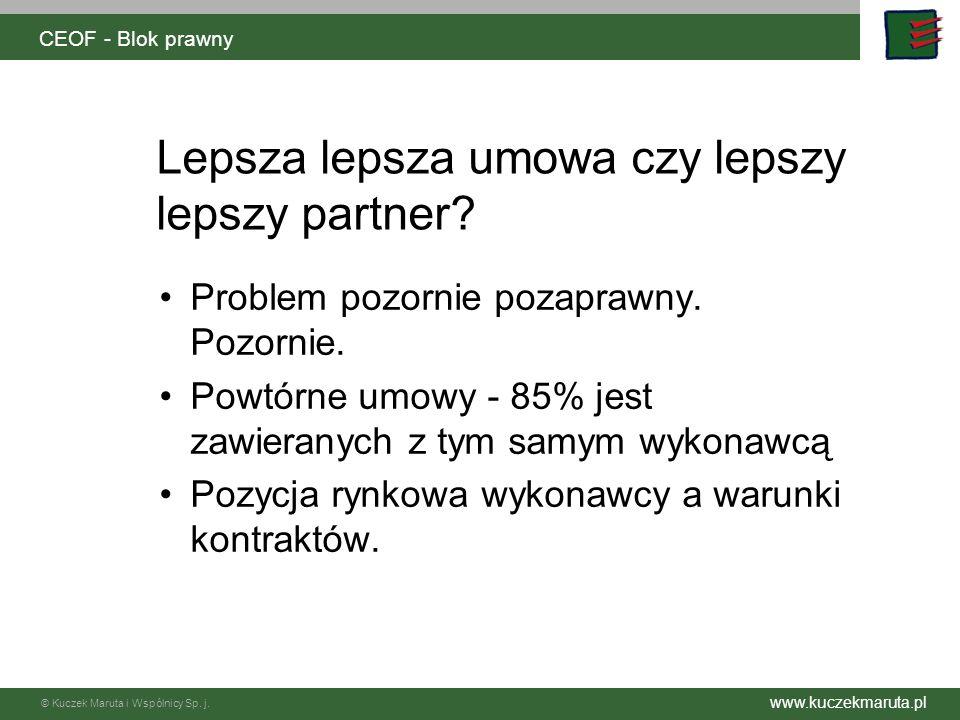 www.kuczekmaruta.pl © Kuczek Maruta i Wspólnicy Sp. j. CEOF - Blok prawny II SLA
