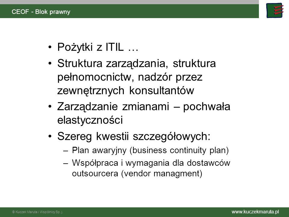 www.kuczekmaruta.pl © Kuczek Maruta i Wspólnicy Sp. j. CEOF - Blok prawny V Wynagrodzenie