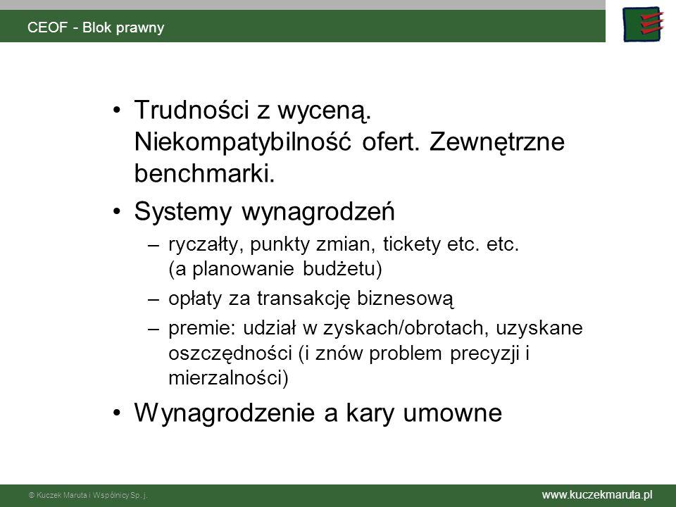 www.kuczekmaruta.pl © Kuczek Maruta i Wspólnicy Sp. j. CEOF - Blok prawny VI Odpowiedzialność