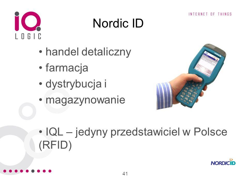 41 Nordic ID handel detaliczny farmacja dystrybucja i magazynowanie IQL – jedyny przedstawiciel w Polsce (RFID)
