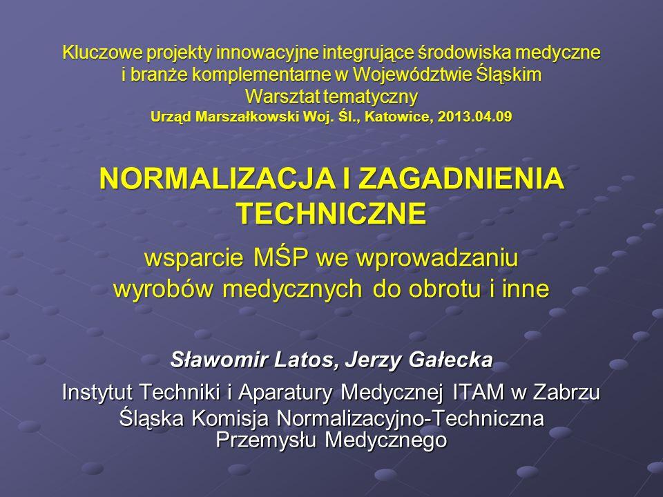 Kluczowe projekty innowacyjne integrujące środowiska medyczne i branże komplementarne w Województwie Śląskim Warsztat tematyczny Urząd Marszałkowski W