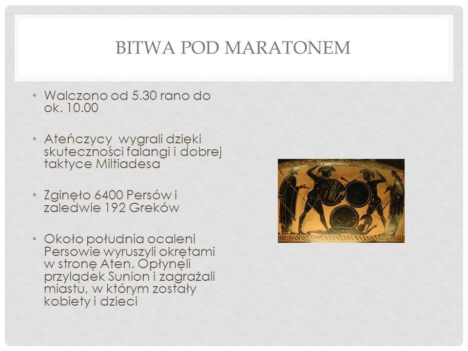 PLUTARCH Bitwę pod Maratonem zwiastował, według Heraklejdesa z Pontu niejaki Tersyppos z gminy Erchia.