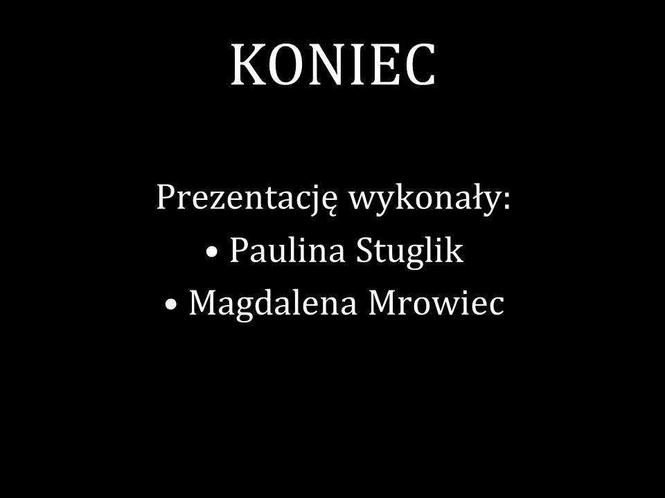 KONIEC Prezentację wykonały: Paulina Stuglik Magdalena Mrowiec
