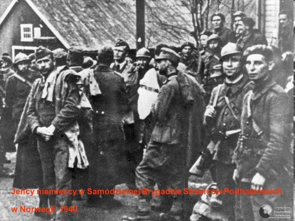 Jeńcy niemieccy w Samodzielnej Brygadzie Strzelców Podhalańskich w Norwegii. 1940.