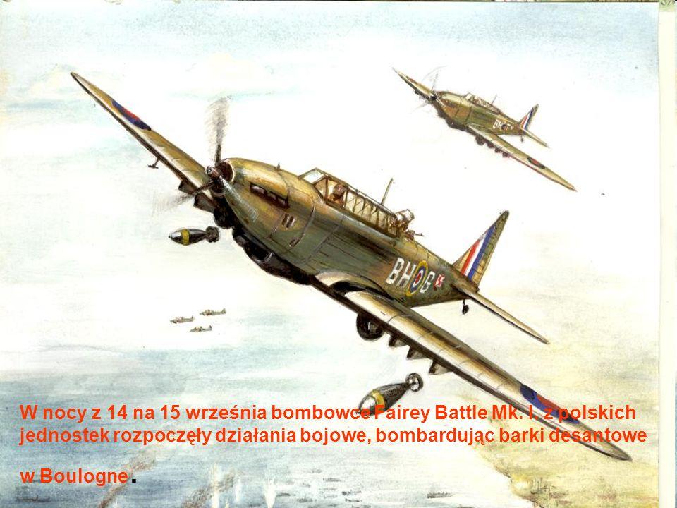 W nocy z 14 na 15 września bombowce Fairey Battle Mk.